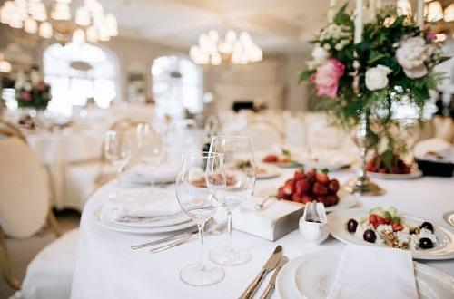 hotel banquet decor wedding theme
